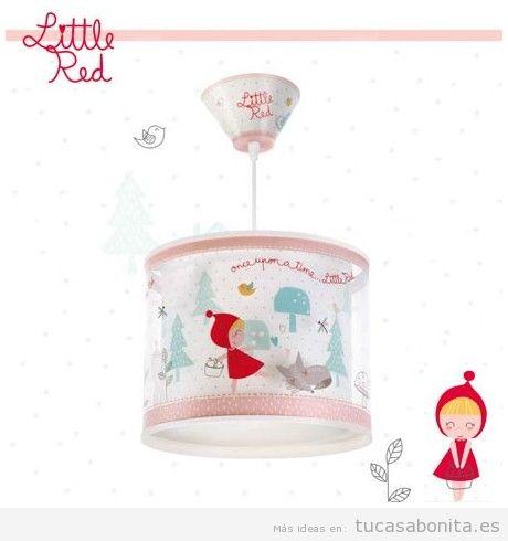 Lámpara infantil de techo caperucita roja