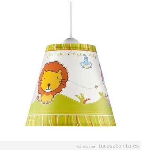 Lámpara infantil de techo león