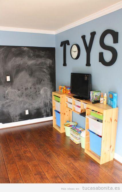Letras grandes en pared para decorar habitación infantil 2