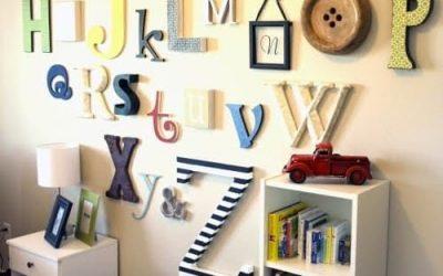 Letras grandes para decorar una habitación infantil