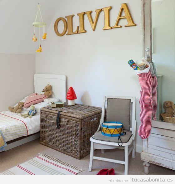 Letras grandes para decorar una habitaci n infantil tu for Como decorar un cuarto infantil