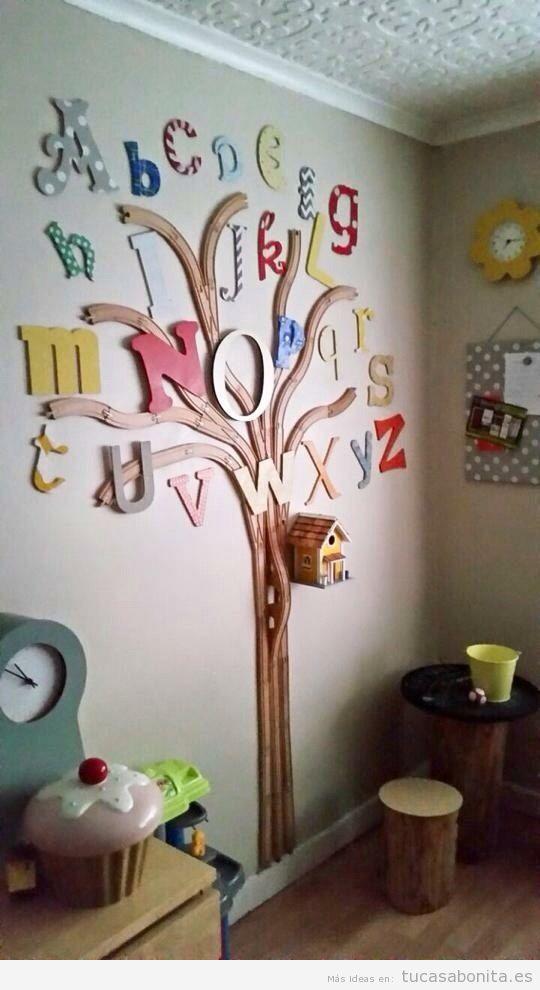 Letras grandes para decorar una habitación infantil - Tu casa Bonita