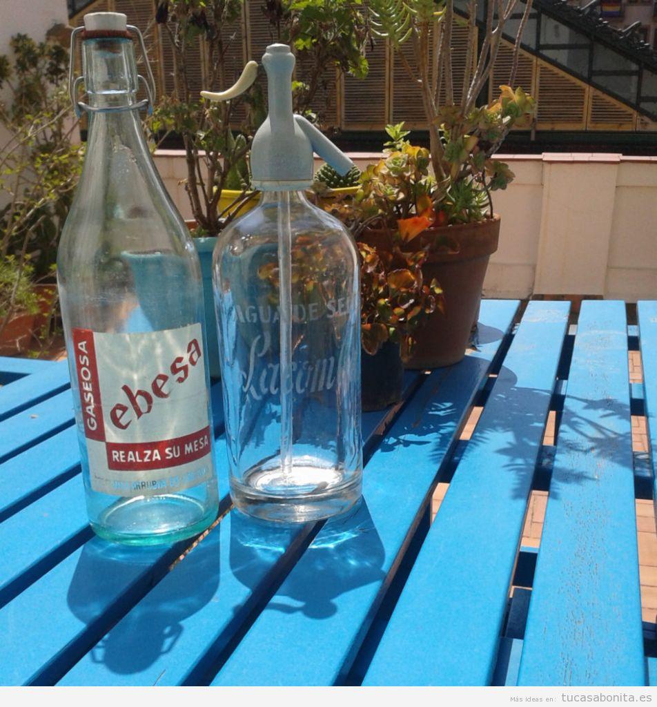 Sifones antiguos botellas decoración vintage