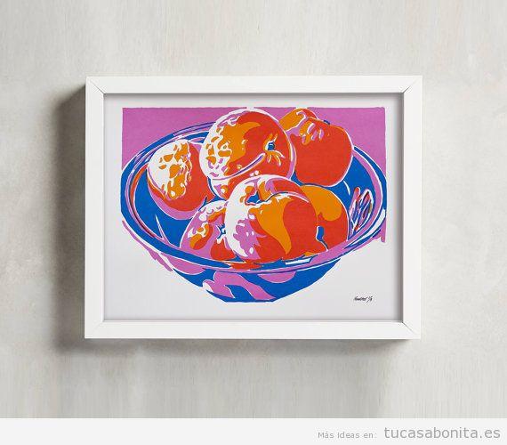 Serigrafía frutas bodegón
