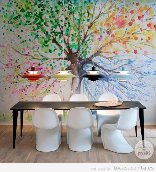 Murales pintados en las paredes de vuestra casa tu casa for Decoracion pared comedor