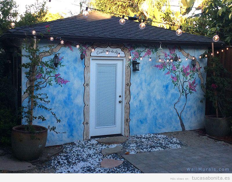 Sala de estar tu casa bonita ideas para decorar pisos modernos - Exterior mural paint design ...