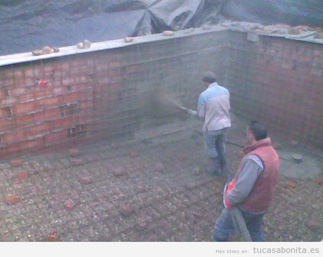Construcción piscina gunitada o encofrada
