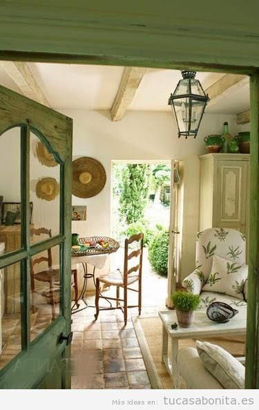 Decoración de casa de campo pequeña y rústica, sala de estar 2