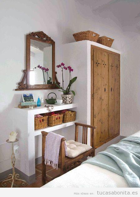 Decoración de casa de campo pequeña y rústica, dormitorio 2
