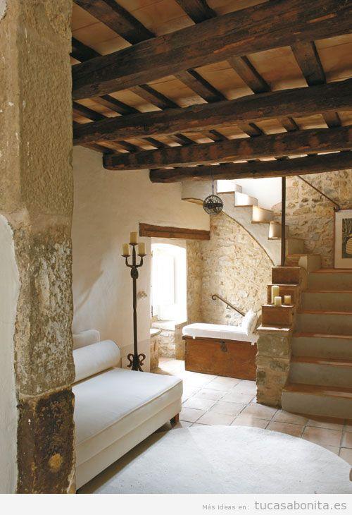 Decoración de casa de campo pequeña y rústica, sala de estar 3