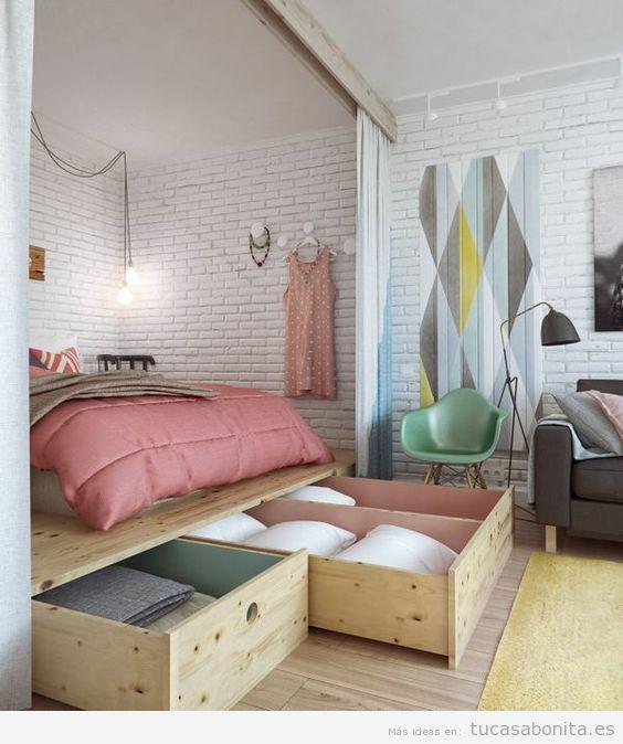 Cómo decorar un piso pequeño sin paredes o loft 2