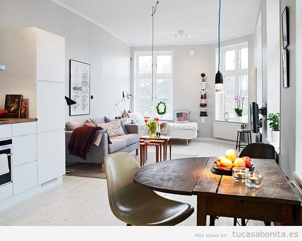 Cómo decorar un piso pequeño sin paredes o loft 7