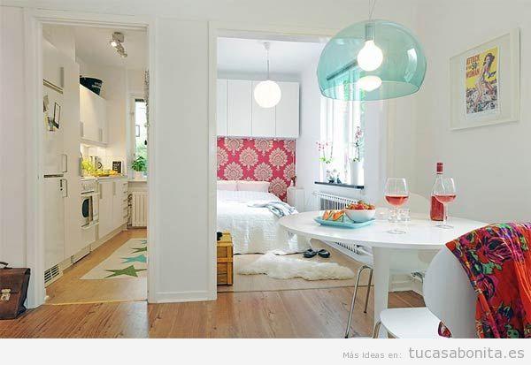Cómo decorar un piso pequeño sin paredes o loft 5