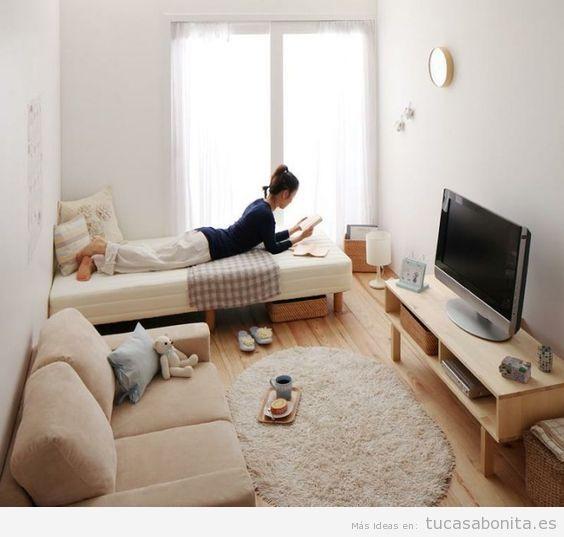 Como Decorar Un Apartamento Pequeno Sin Paredes 10 Ideas Ingeniosas - Decoracion-de-loft-pequeos