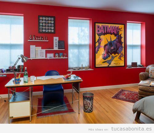 Decoración paredes casa con cómics y viñetas, oficina 2