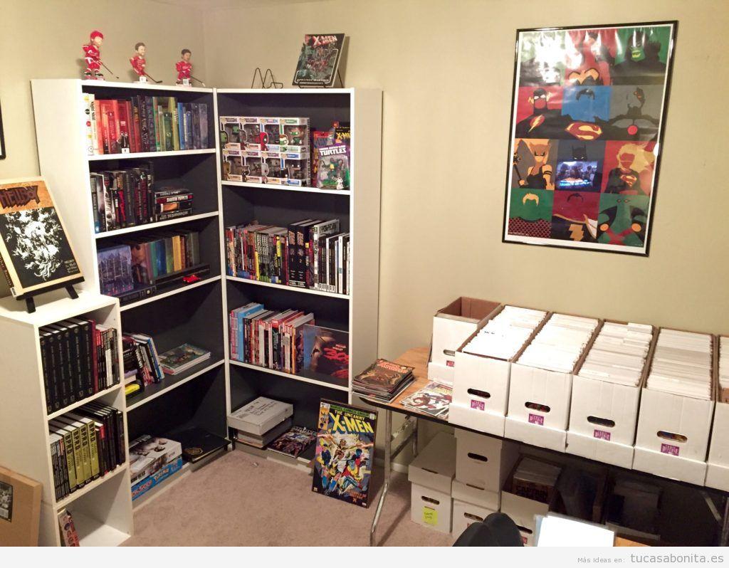 Decoración paredes casa con cómics y viñetas, oficina 3