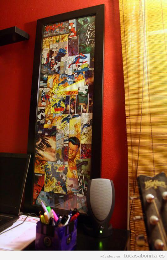 Decoración paredes casa con cómics y viñetas, oficina 4