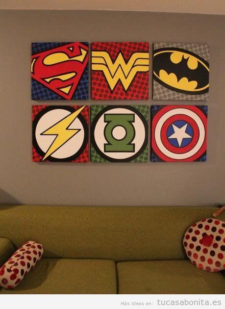 Decoración paredes casa con cómics y viñetas, sala de estar 2