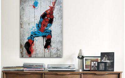 Decoración de paredes de casa con viñetas y comics