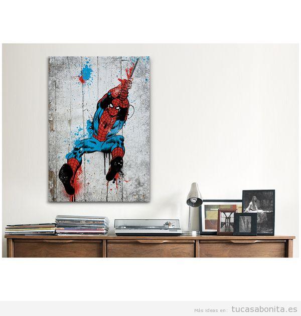 Decoración paredes casa con cómics y viñetas, sala de estar
