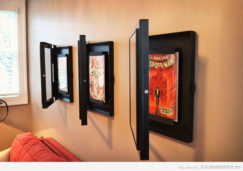 Decoración paredes casa con cómics y viñetas, sala de estar 5