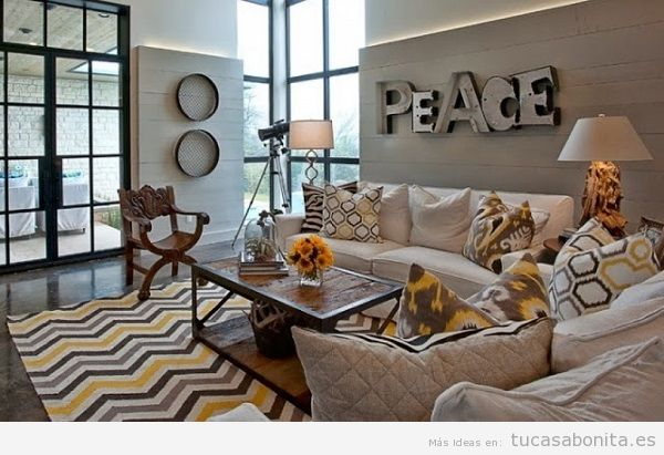 Letras de metal para decorar paredes de casa 5