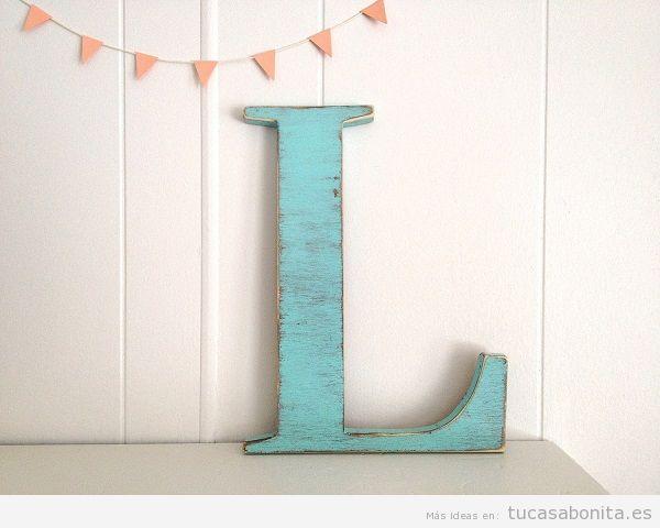 Letras de madera para decorar pared de casa 4