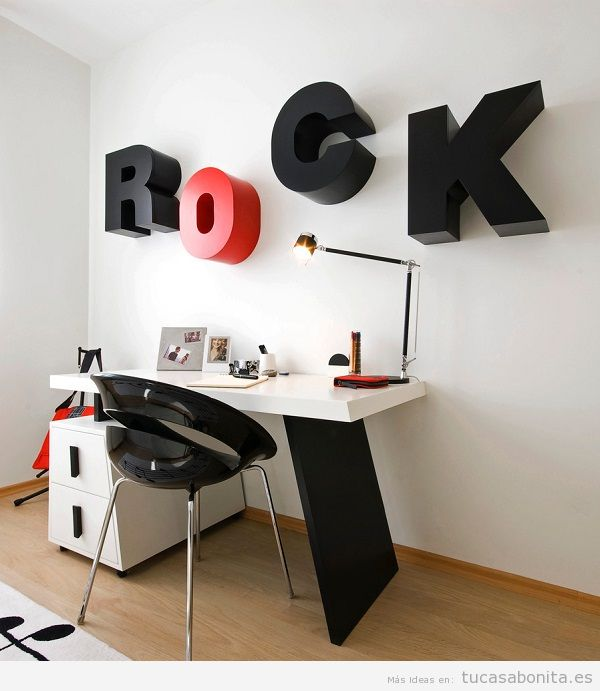 Letras de metal para decorar paredes de casa 3