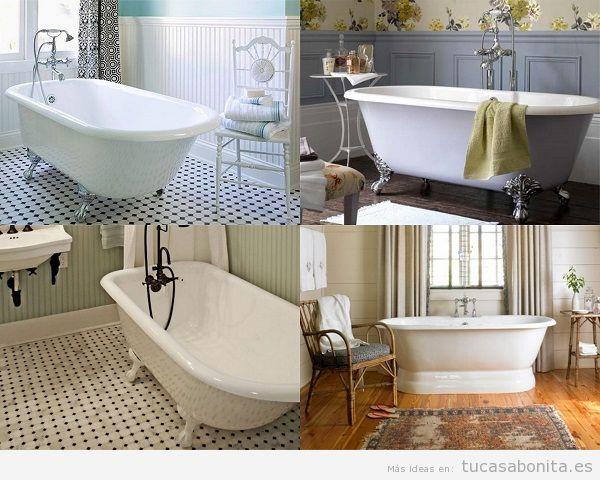 Baños vintage con bañeras antiguas