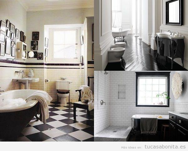 Baños vintage color negro