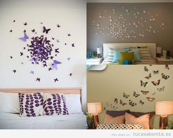 Decoración de dormitorios matrimonio con mariposas