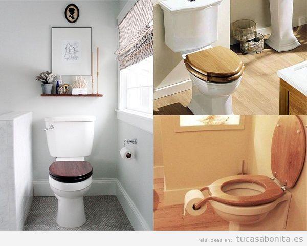 Decorar váter asientos madera