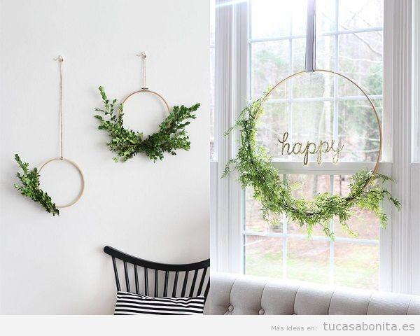 Ideas decoración baratas casa, aros con flores