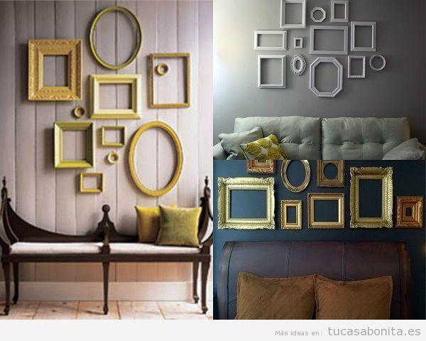 Ideas decoración baratas casa, marcos vacíos
