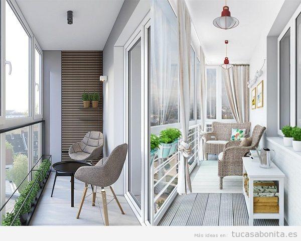Ideas para decorar una galer a acristalada tu casa bonita for Decorar terrazas alargadas