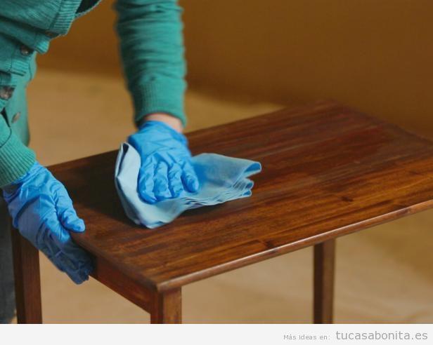 C mo restaurar un mueble de madera paso a paso tu casa - Como limpiar muebles de madera antiguos ...