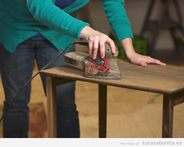 Tutorial restaurar mueble paso 4
