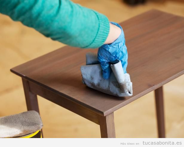 Tutorial restaurar mueble paso 7