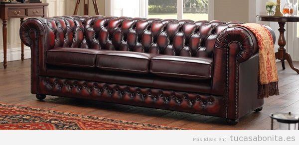 10 dise os y estilos de sof que dar n car cter a tu sal n for Sofas chesterfield baratos