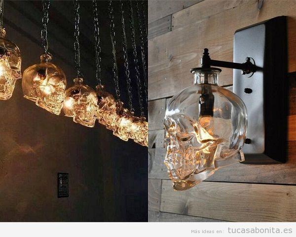 Lámparas de calaveras de cristal