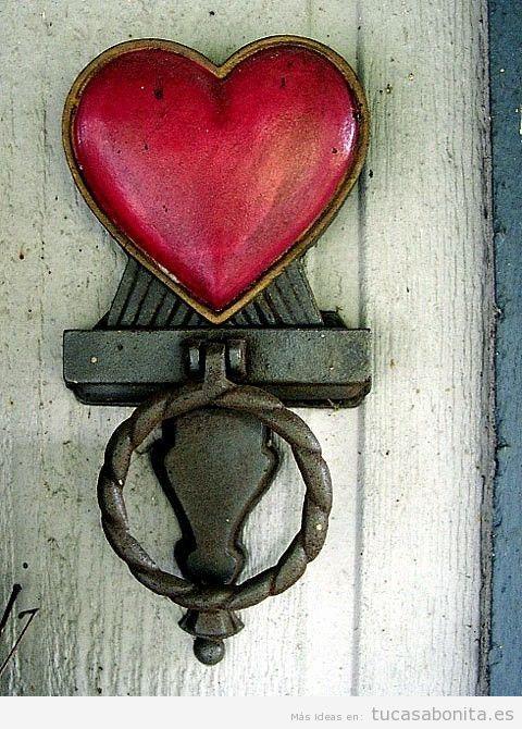 Aldaba vintage corazón