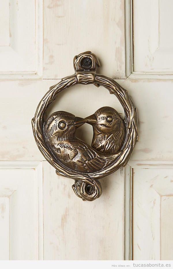 Aldaba vintage pájaros