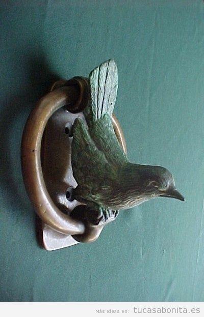 Aldaba vintage pájaro