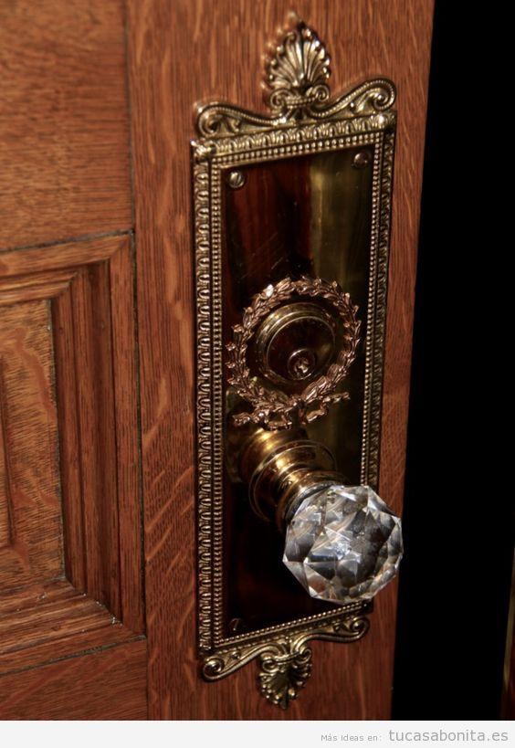 Cerradura vintage con pomo cristal 2