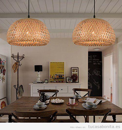 Ideas y trucos para decorar tu casa de estilo moderna o - Lamparas rusticas baratas ...