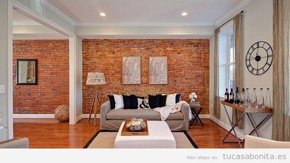 Consejos reformar salón casa, paredes de ladrillo