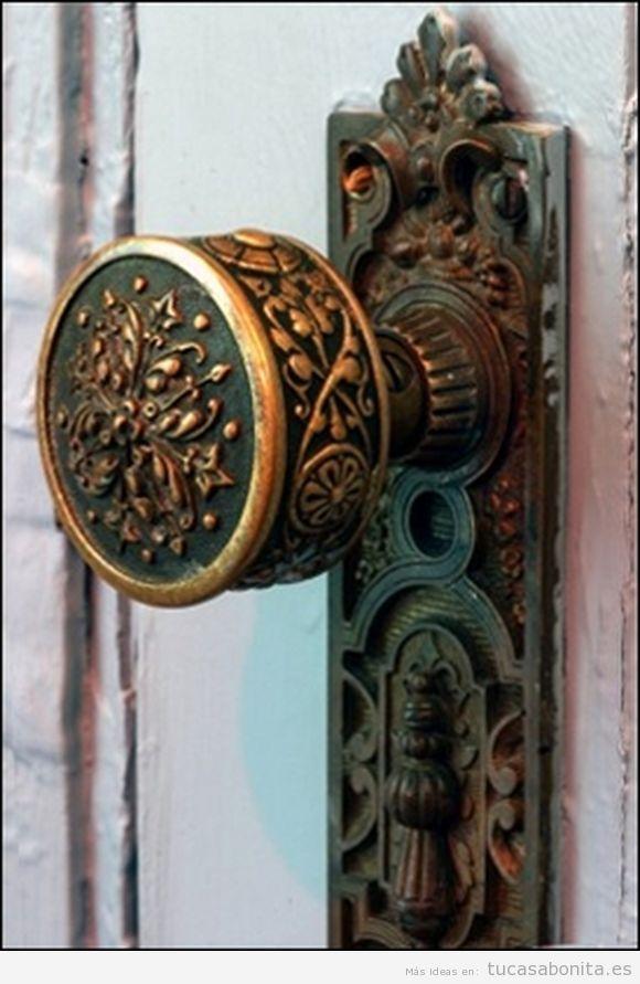 Pomo puerta vintage bonito