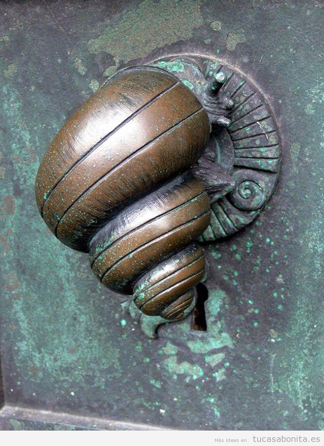 Pomo puerta vintage forma caracola