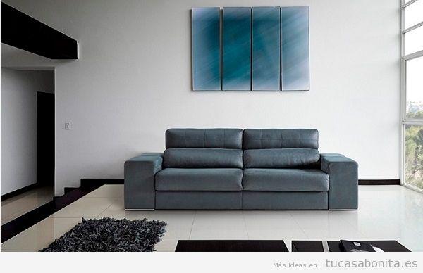 Sofá cama elegante color gris apertura italiana