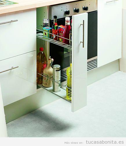 Bandejas extraíbles armarios cocina